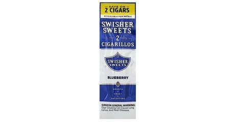2 Swisher Sweets Blueberry Cigarillos