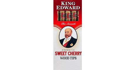 5 King Edward Sweet Cherry Wood Tip Cigarillo