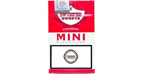 6 Swisher Sweets Mini Strawberry Cigarillos