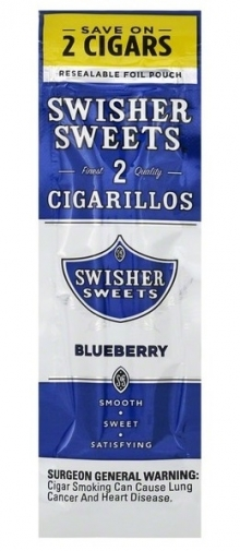 Изображение к 2 Swisher Sweets Blueberry Cigarillos