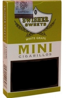 Изображение к 6 Swisher Sweets Mini White Grape Cigarillos